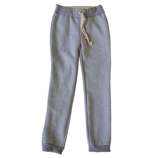 Утепленные спортивные штаны для девочки на резинке и шнурке